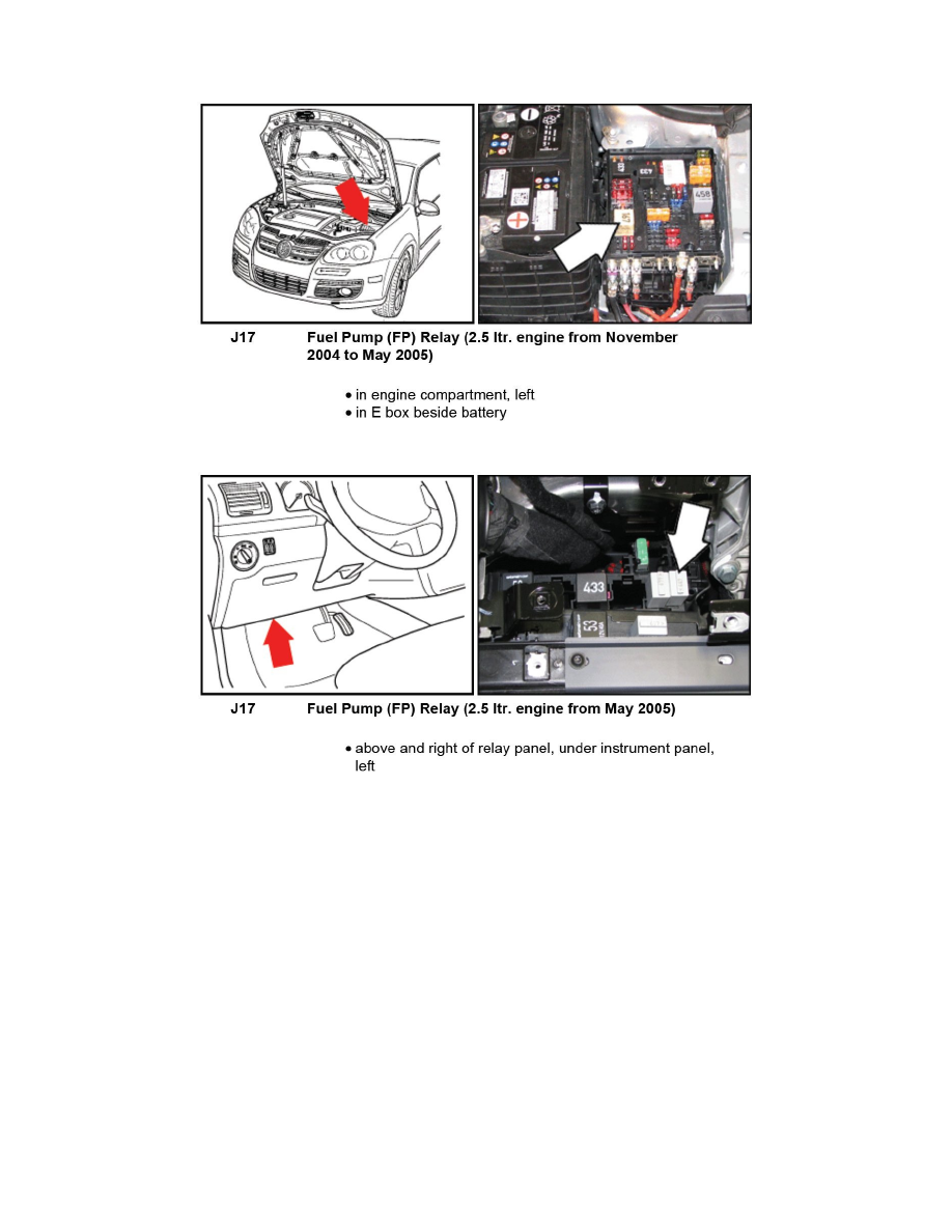 Volkswagen Workshop Manuals > Jetta L5-2 5L (BGP) (2006) > Relays