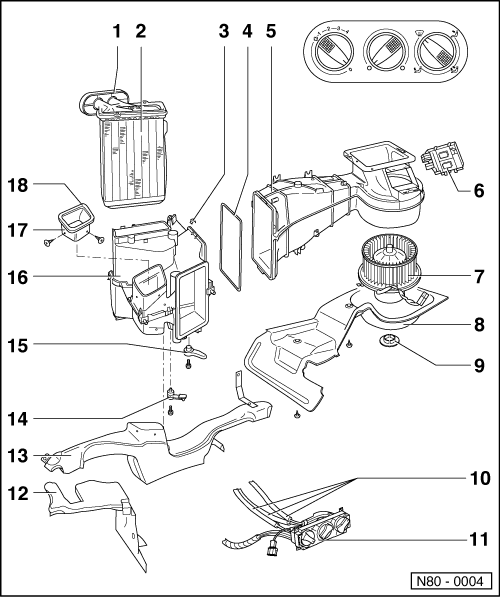 parts of air conditioning system