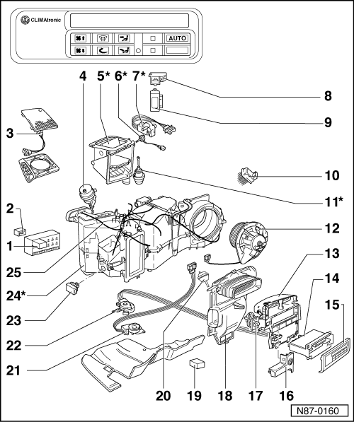volkswagen touareg blower motor location