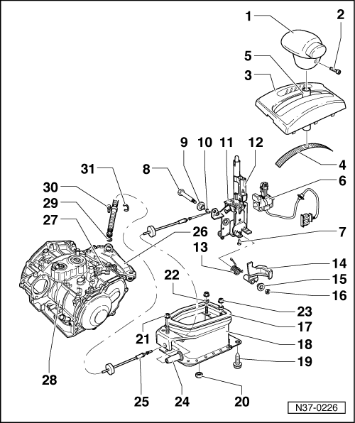 service manual  manual solenoid shifter release 1999