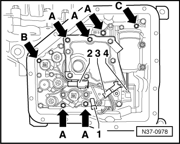 Cooper Wiring Products additionally Removing and installing bevel box  vehicles with 6 Cylinder injection engine likewise Removing and installing clutch cable  up to 26 04 likewise Dismantling and assembling reverse shaft moreover Identification of gearbox. on vw mk3 transmission