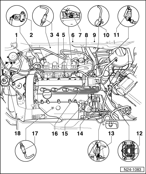 Volkswagen Workshop Manuals Polo Mk3 Power Unit 4lv Injection