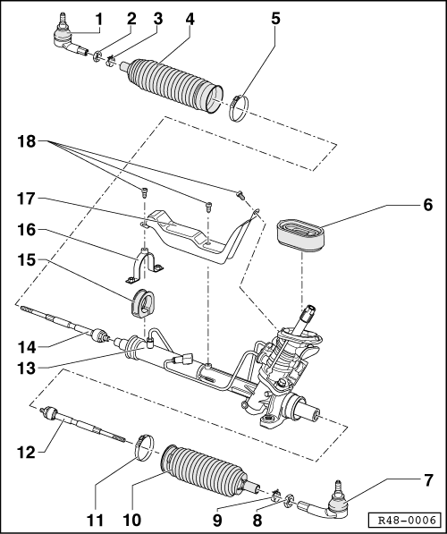 vw steering box diagram