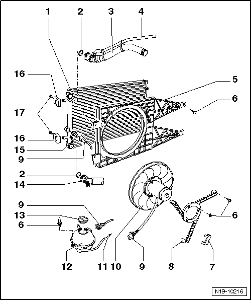 Volkswagen Engine Cooling System Diagram