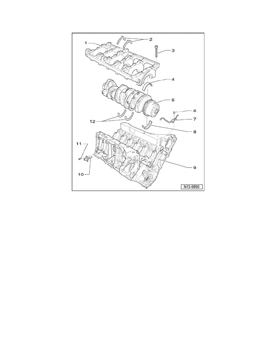 volkswagen workshop manuals u003e touareg v10 5 0l dsl turbo bwf 2006 rh workshop manuals com Pontiac Engine Block Drawings Main Engine Part Diagram