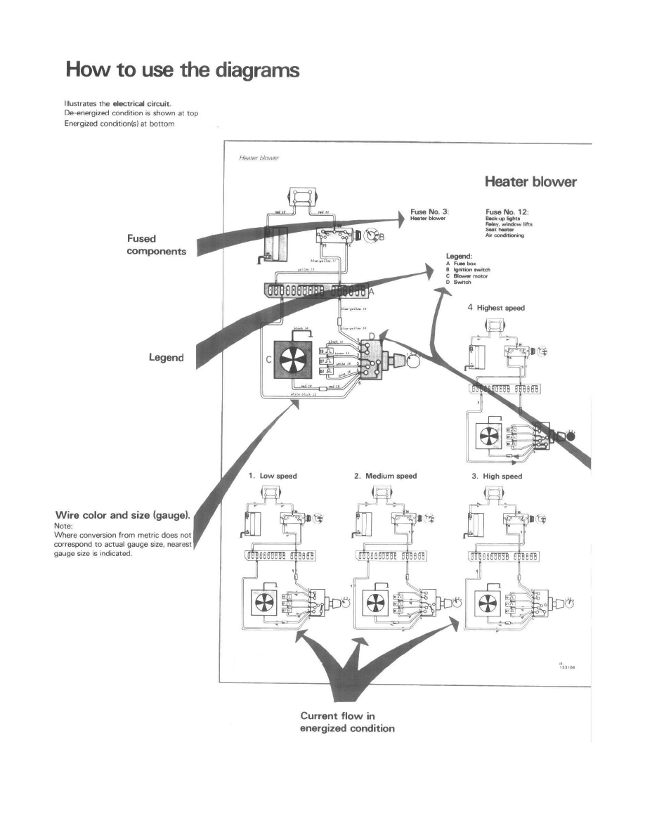 Heating and Air Conditioning > A/C Switch <--> [Air Conditioning Switch] >  Component Information > Diagrams > Diagram Information and Instructions