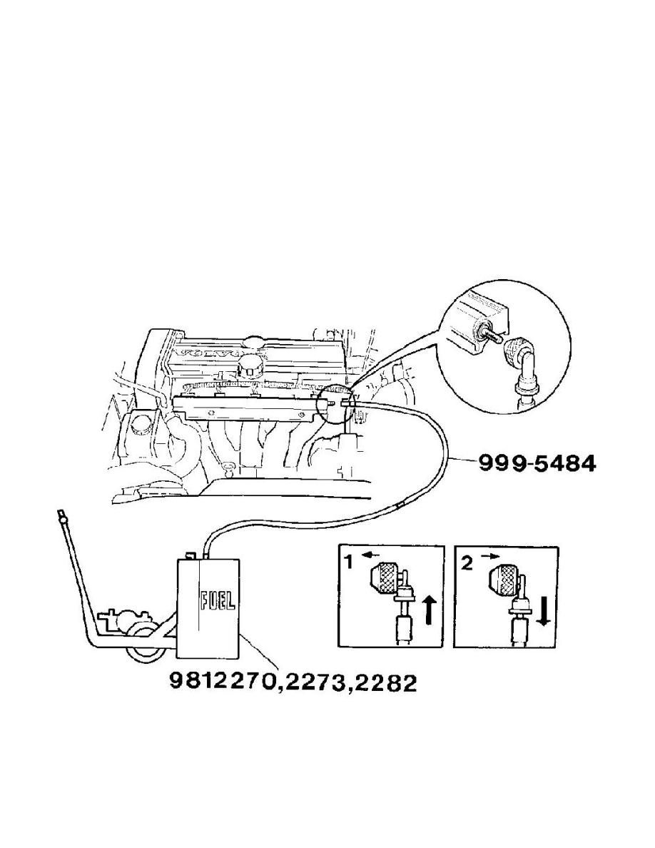 Volvo Workshop Manuals S80 T6 L6 29l Turbo Vin 91 B6294t 2002 Fuel Filters Maintenance Filter Pressure Release System Information Service And Repair Draining The