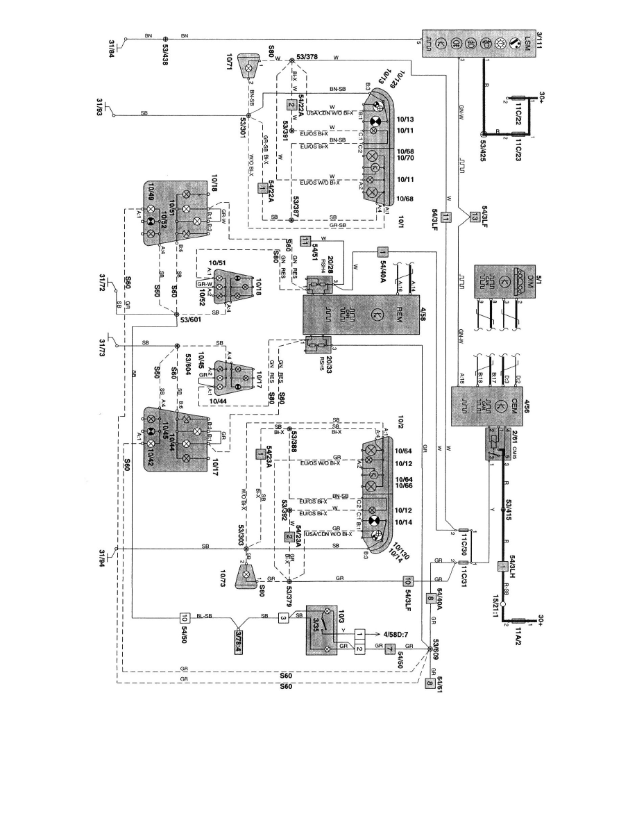 Volvo Workshop Manuals S80 T6 Executive L6 28l Turbo Vin 90 Wiring Diagram Maintenance Fuses And Circuit Breakers Fuse Component Information Technical Service Bulletins Electrical Systems Additional Diagrams