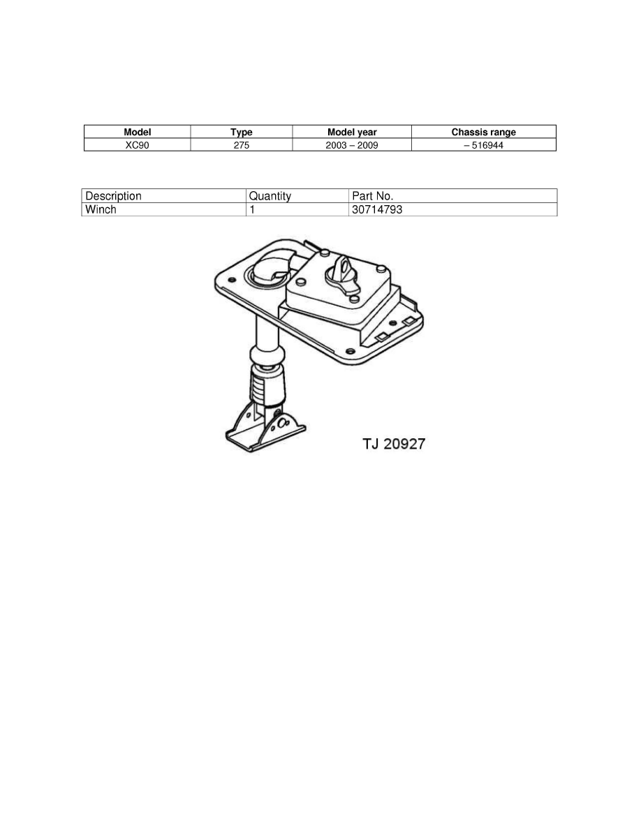 Body And Frame Spare Tire Carrier Component Information Service Repair